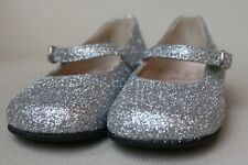 IL GUFO BABY GIRLS SILVER GLITTER SHOES EU 22 UK 5