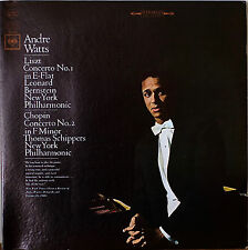 ANDRE WATTS: LISZT: Concerto No. 1/CHOPIN Concerto No. 2-M1967LP SCHIPPERS NY