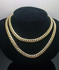 "10K Yellow Gold Miami Cuban Chain 6mm 30"", Franco, Rope, Italian"