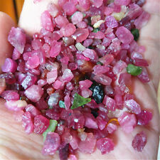 120g SMALL SIZE natural WATERMELON pretty PINK AND GREEN tourmaline Rough