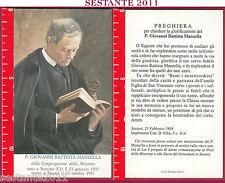 1687 SANTINO HOLY CARD P. GIOVANNI BATTISTA MANZELLA CONGREGAZIONE MISSIONE