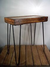 Unique UpCycled Vintage Retro Rustic Industrial Occasional Side End Coffee Table
