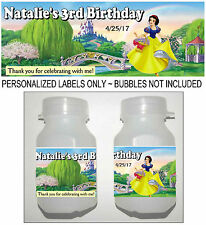 30 DISNEY PRINCESS SNOW WHITE BIRTHDAY PARTY FAVORS BUBBLE LABELS