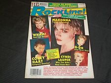 1986 OCTOBER ROCKLINE! MUSIC MAGAZINE - MADONNA COVER - GREAT PHOTOS - O 5558
