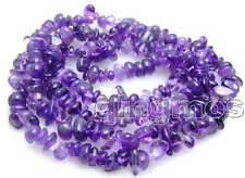 "SALE Long 32"" Purple 8mm baroque natural Amethyst gemstone Beads necklace-n5680"