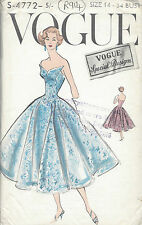 1950s Vintage VOGUE Sewing Pattern B34 DRESS (R914)