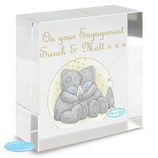 Personalised Me To You Bears Gold Stars Crystal Token Engagement Wedding Gift