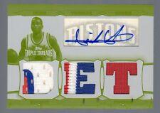 2006-07 Triple Threads Isiah Thomas Auto Relic White Whale Yellow Plate #1/1