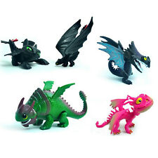 7PCs How To Train Your Dragon PVC Toy Night Fury Toothless Model Set Kids