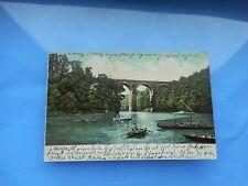 AK Görlitz Viaduct gelaufen 1905 koloriert Postkarte Schlesien