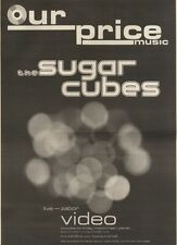 2/12/89Pgn07 Advert: The Sugarcubes 'live - Zabor' New Video Out Now 15x11