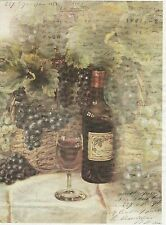 Rice Paper for Decoupage Decopatch Scrapbook Craft Sheet Grapes and Wine