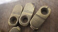 "4 x 23mm 7/8"" BRASS PLATED HALF 1/2 TURN BUTTON GRANNY CATCH SHED DOOR CUPBOARD"