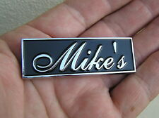 ~ MIKE'S CAR BADGE Chrome Metal Emblem To Personalise Your Car Michael *NEW!*