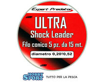 FILO CONICO SURFCASTING EXPERT ULTRA  TAPERED 0,20 - 0,52 COLORE ROSSO