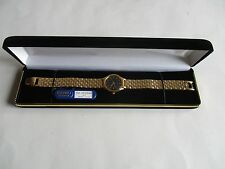 Seiko Women's Gold Tone Black Dial Watch SFW840P NEW