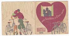 CARTONCINO PUBBLICITARIO BERTELLI BICI 1942 NEW YORK MILANO BICICLETTE  4-180