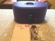 Caboodles #2640 Purple Teal 3 Tier With Mirror Makeup Travel Case Vintage Large