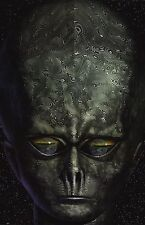 SCI-FI POSTER~Alien Watching Earth In Eyes Mirror Outer Space Brain X-Files NOS~
