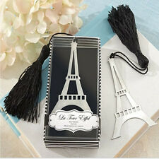 New Eiffel Tower Alloy Bookmark Creative Exquisite Tassel Box New Year Gifts 1Pc