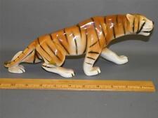 """Vintage Porcelain Tiger Figurine Royal Dux Fully marked 12"""" Long"""