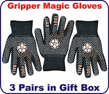 Christmas Gift Box Foot Ball Gripper Black Magic Gloves Unisex Men Ladies Xmas