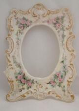 LIMOGES FRANCE HAND PAINTED PICTURE FRAME Antique Victorian T & V  FORGET ME NOT