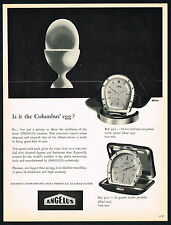 1950's Vintage 1956 Angelus 927 / 917 Horse Shoe Alarm Clock Watch Art Print AD
