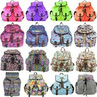 **SALES** CANVAS BUTTERFLY/OWL PATTERN OILCLOTH BACKPACK RUCKSACK SCHOOL BAG