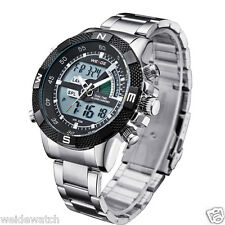 Imported  Weide WH-1104 BLACK Dial quartz digital dual time Men Watch