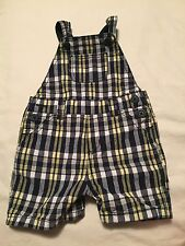 Gymboree Boys Preppy Puppy Boys Short Overalls Size 3-6 Months Outfit