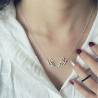 1 Pc Deer Horn Short Clavicle Necklace Antlers Simple Jewelry Accessories