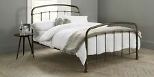 NEXT SHOREDITCH METAL DOUBLE BED FRAME WITH SLATS