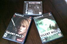 Silent Hill 1 PS1 & 2 & 3 PS2  **all in mint condition** bonus track cd included
