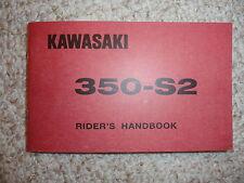 1971 1972 Kawasaki 350 S2 Mach II Rider's Handbook Owner's Manual Owners Parts
