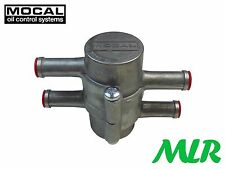 "MOCAL OT/1B REMOTE OIL COOLER THERMOSTAT 10mm 3/8"" PUSH ON FITTINGS MLR.BCN"