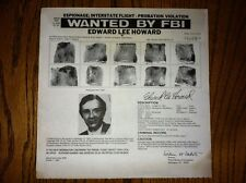 EDWARD LEE HOWARD CONTROVERSAL SOVIET SPY/US AGENT WANTED FBI POSTER *MAKE OFFER