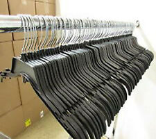 """120 Black Plastic Hangers Adult Clothing Clothes Garment Dress Recycled 17"""""""