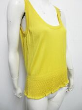 Nwt $659 Gucci Women's Yellow Crewneck Sleeveless Cashmere Elastic Waist Top- M
