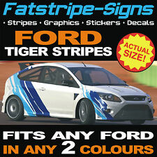 FORD TIGER STRIPES VINYL GRAPHICS STICKERS DECALS ESCORT FOCUS FIESTA ST TURBO