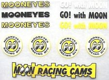 ' tiny ' Moon Eyes Assorted Decals Nascar Hot Rod Stickers