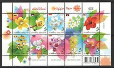 Thailand 2013 Greeting Happy New Year Flowers Mini Sheet