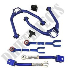 BLUE FOR 03-08 350Z Z33 03-06 G35 FRONT+REAR UPPER CAMBER ARM TOE RACE ALIGNMENT