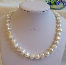 Genuine 10-11mm Baroque freshwater pearls necklace /  bracelet