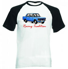 POLISH FIAT 125P BLUE INSPIRED RACING - NEW COTTON TSHIRT - ALL SIZES IN STOCK