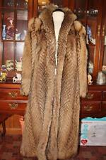 WOW! Stunning Floor Length TANUKI RACCOON Fur Coat Womens M L 10/12