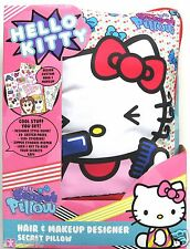 HELLO KITTY SECRET PILLOW - HAIR AND MAKEUP DESIGNER SET - BRAND NEW!