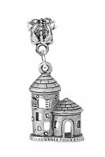 Castle Fortified Tower Kingdom Fairytale Dangle Charm for European Bead Bracelet