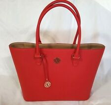 NWT DKNY Bryant Park Saffiano Leather X Large Tote Bag handbag Chili Red laptop
