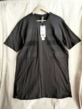 SILENT by DAMIR DOMA BLACK PATCH STRIPES TEE-SHIRT SIZE M